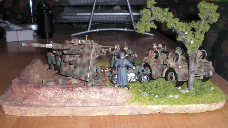 FLAK 88mm Rückansicht