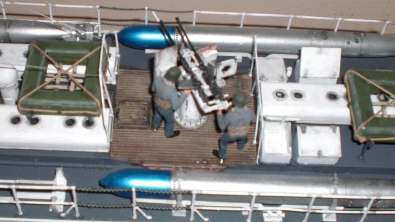 Schnellboot S100 - Detail hinterer Kanonier