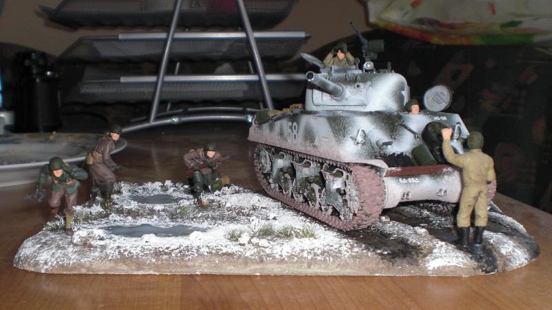 Sherman Panzer - Diorama Ansicht von Vorne