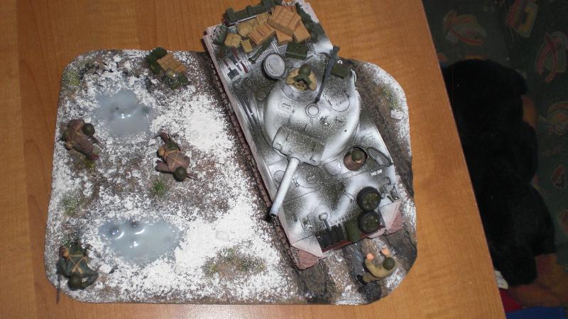 Sherman Panzer - Diorama Ansicht von oben