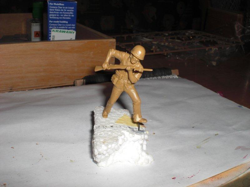 ein Soldat fertig