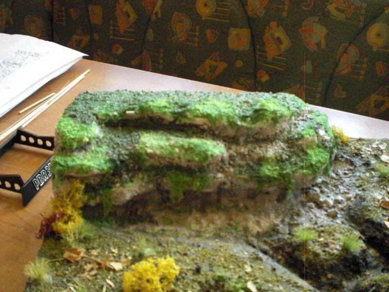 Stein mit Moos überzogen