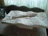 Grundplatte inkl Loch und Struktur (aus Gips)
