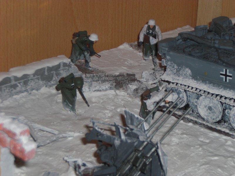Detail: Soldaten im Schnee
