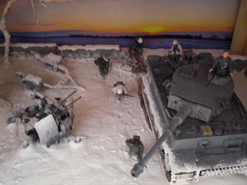 Detail: Panzer und Soldaten